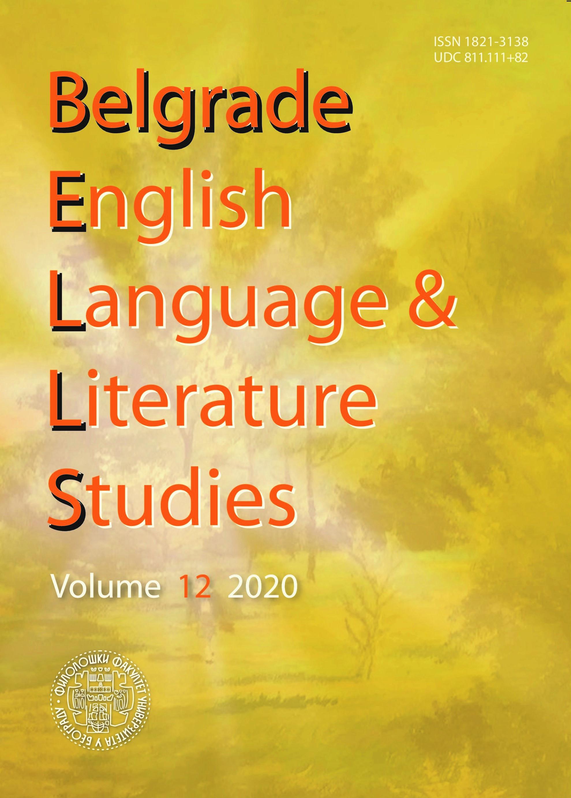 View Vol. 12 No. 1 (2020): BELLS - volume 12